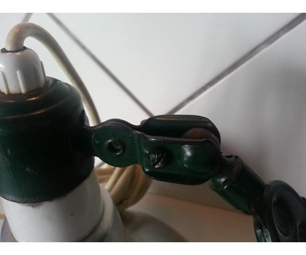 Gl Lampe Med Clips Arm Mal Fatning Og Skaerm 23 24 Cm Skaerm 21