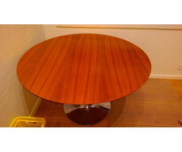 Spisebord, valnød, bolia, b: 120 l: 120 rund bord fra bolia med ...