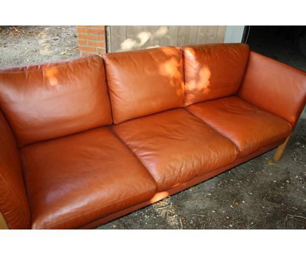 to personers sofa læder